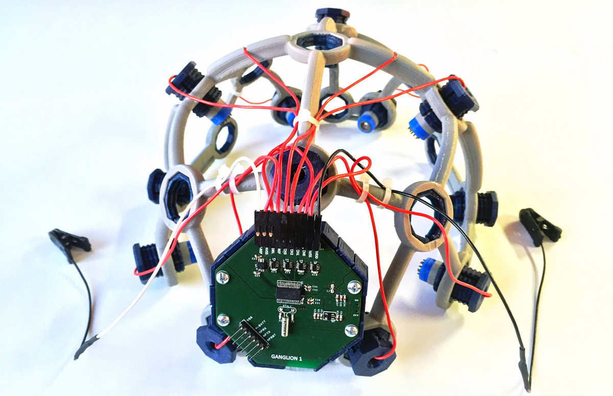 OpenBCI & LulzBot Meld Minds in 3D Printed Biohacking