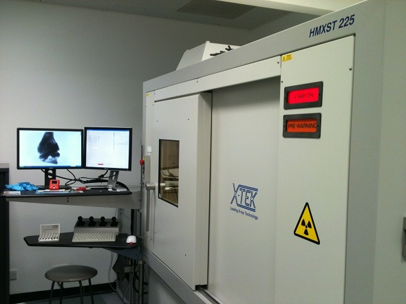 X-Ray Computed Tomography (CT) scanner used by Dr. Close