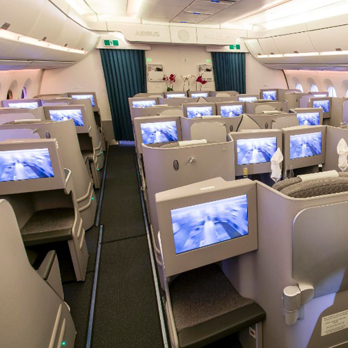 A350 XWB airbus interior with materialise 3D printed parts