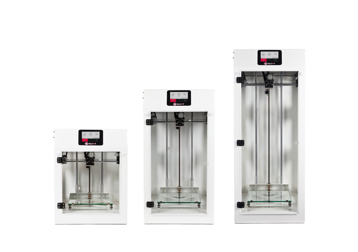 Builder Premium 3D printers in white