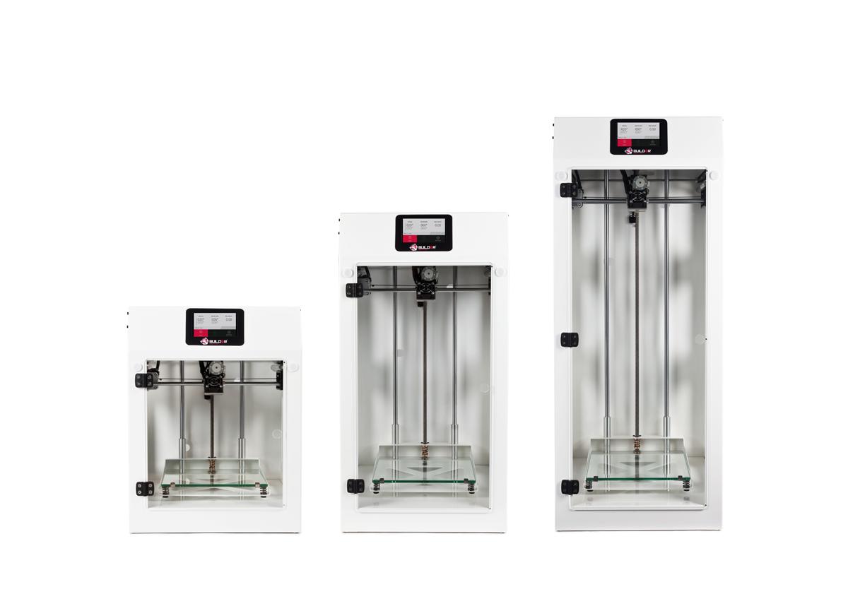 Builder Premium 3D printers in white