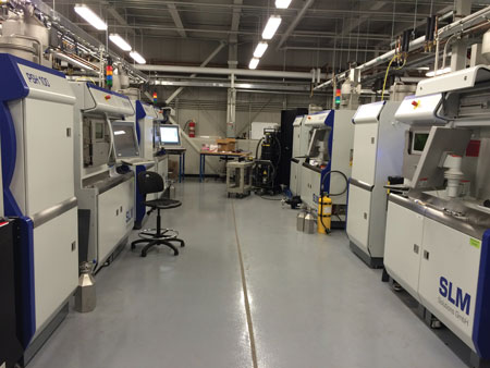 GE additive manufacturing facility 3D printing