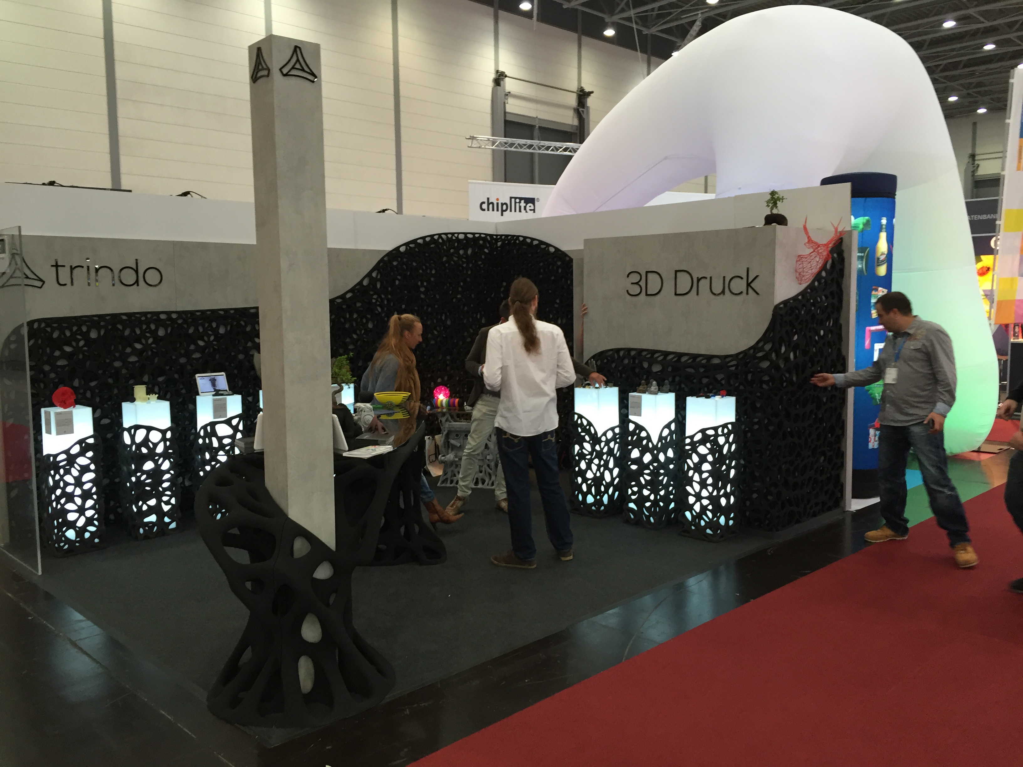 D Printer Exhibition Uk : Trindo breaks out first ever d printed trade show booth