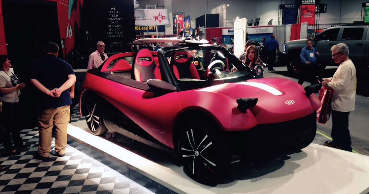 Local Motors LM3D Swim 3D printed car at SEMA 2