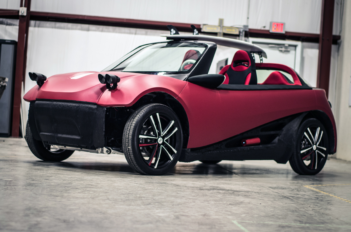 World 39 s 1st 3d printed car unveiled with 53k price tag for Local motors 3d printed car