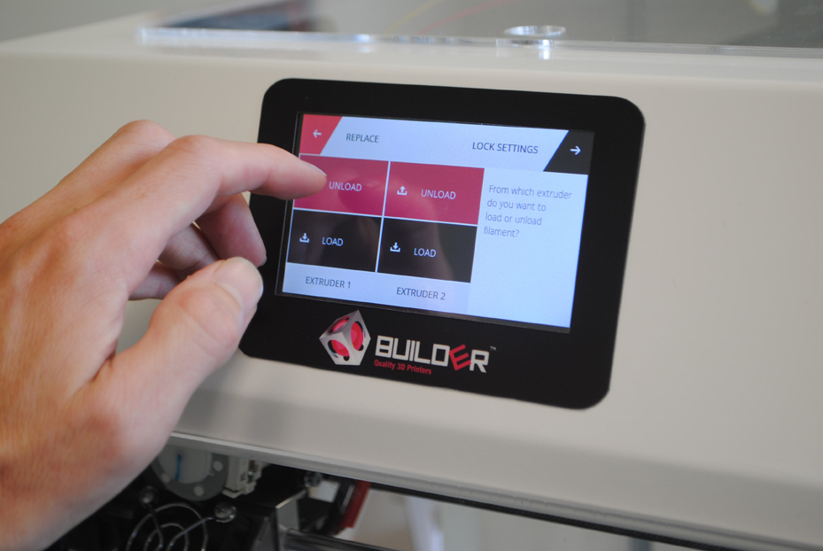builder premium 3D printer lcd screen