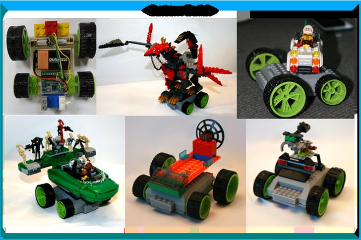 custom 3D printed meeperbot robots