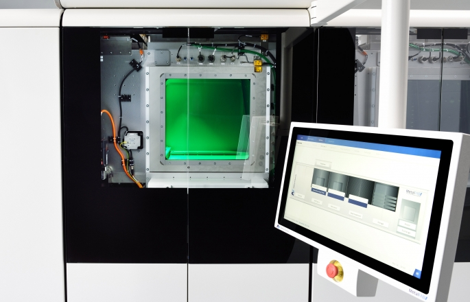 inside metalfab1 metal 3D printer from additive industries