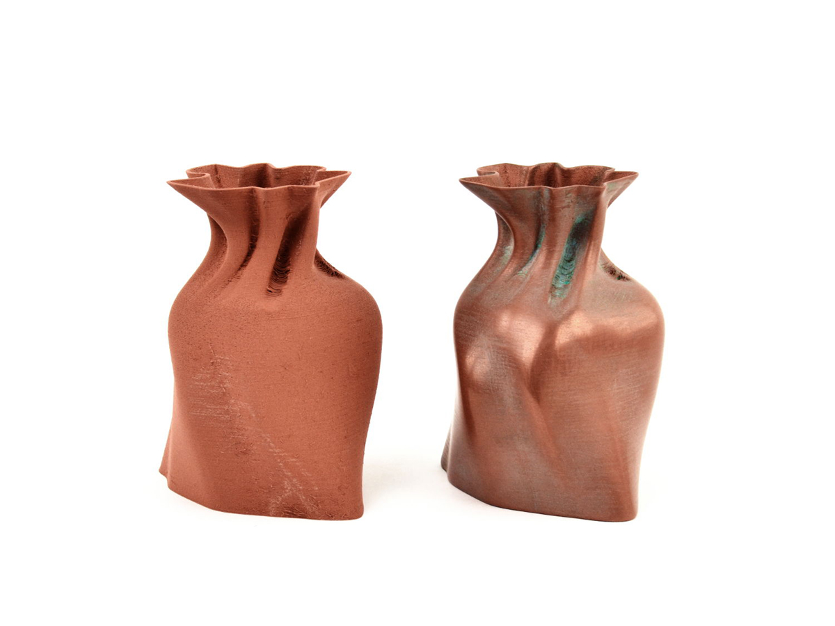 lulzbot aleph objects partners with colorfabb for 3D printing filament copperfill_before_and_after_finishing