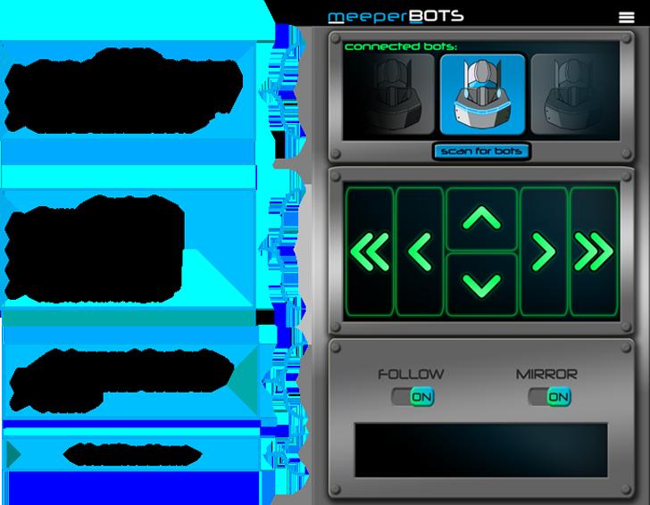 meeper 3D printed robots control system