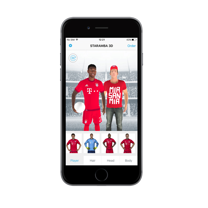 Get a 3D Selfie with a Soccer Star on Staramba's 3D Scanning App