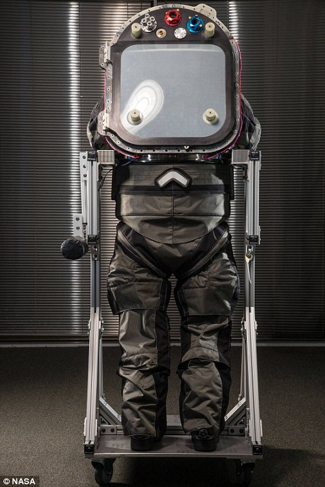 z-2 prototype spacesuit for mars to be 3D printing back