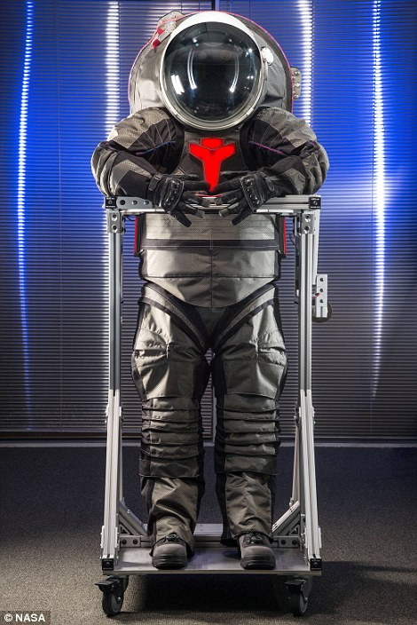 z-2 prototype spacesuit for mars to be 3D printing front