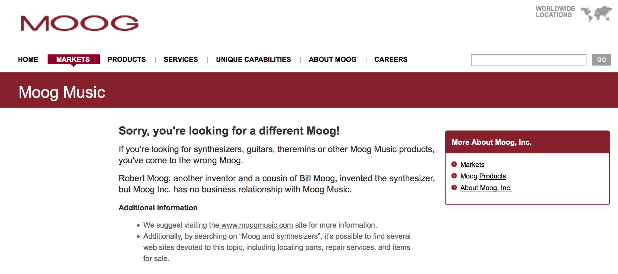 Sorry, you're looking for a different Moog!