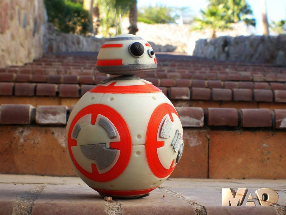 image about Bb 8 Printable called Theres One particular Additional 3D Printable BB-8 within the Galaxy - 3D