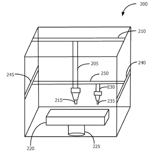 apple patent application for full-color 3D printing articulated arm