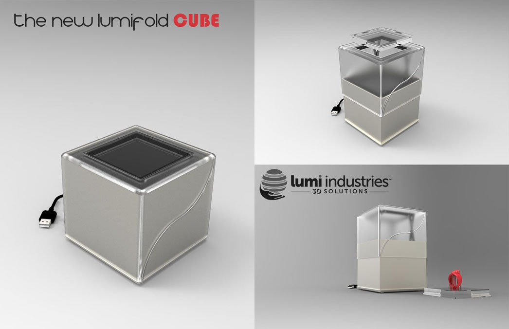 the New LumiFold CUBE 3D printer