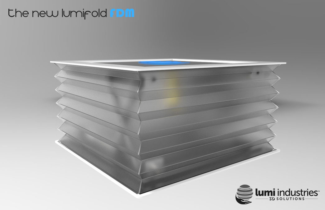 the New LumiFold FDM extendable 3D printer