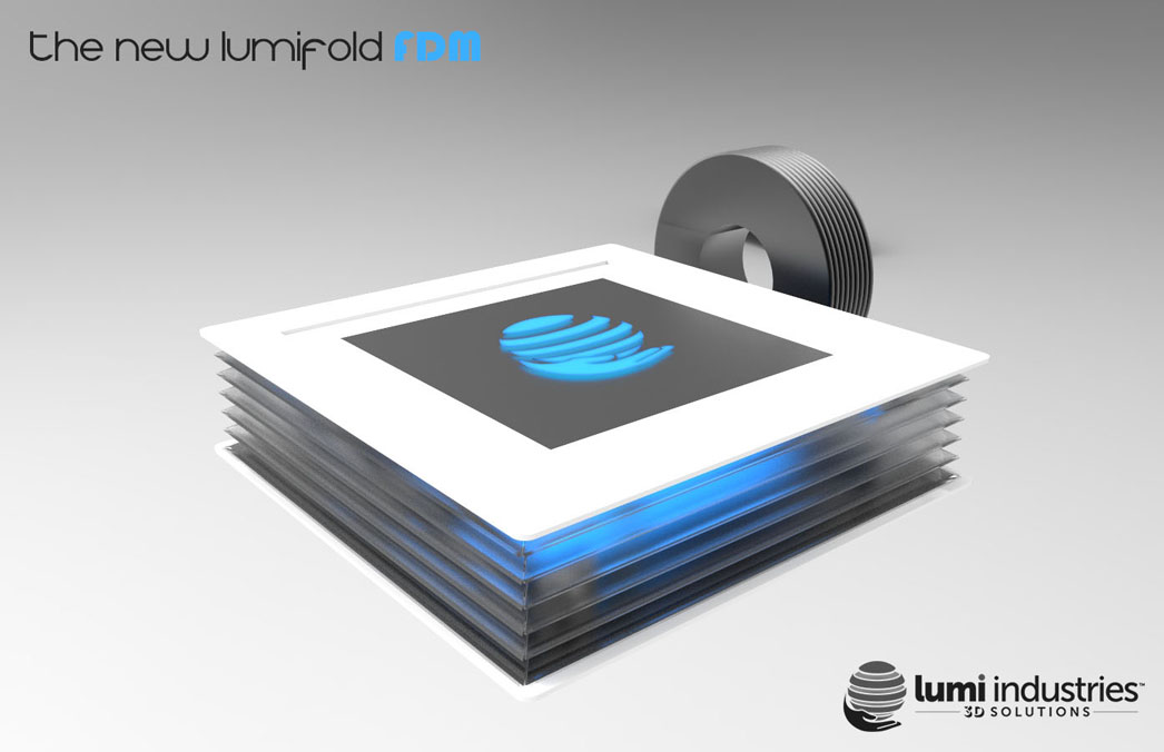 the New LumiFold FDM extending 3D printer