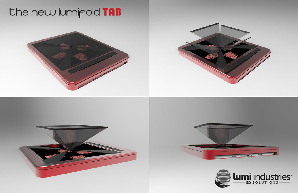 the New LumiFold TAB with holographic display
