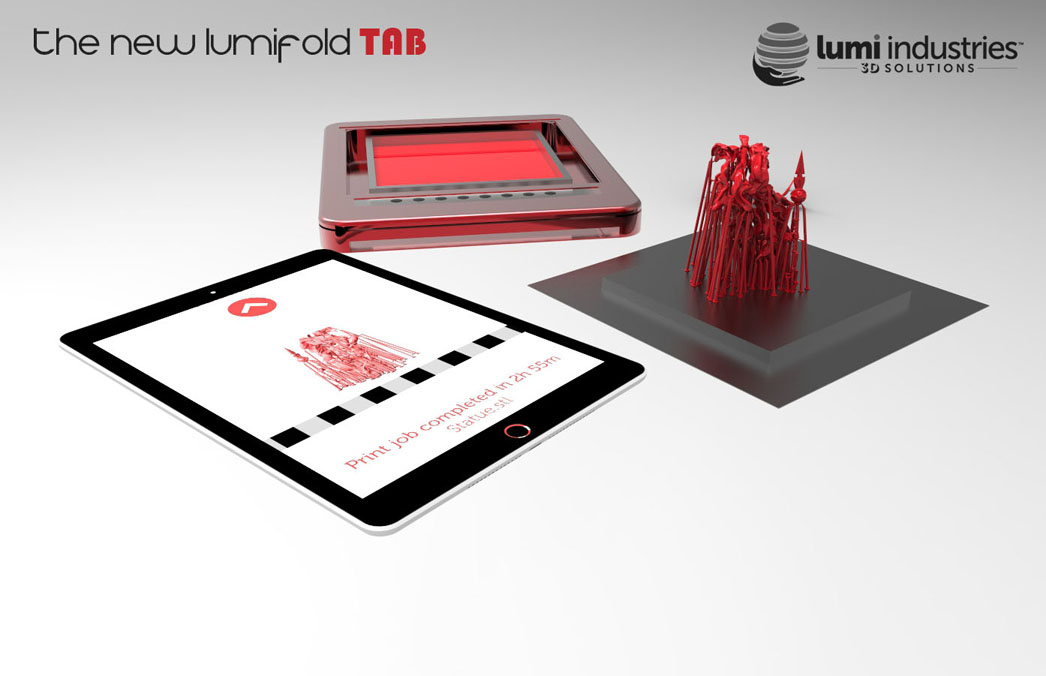 the New LumiFold tab 3D printer concept