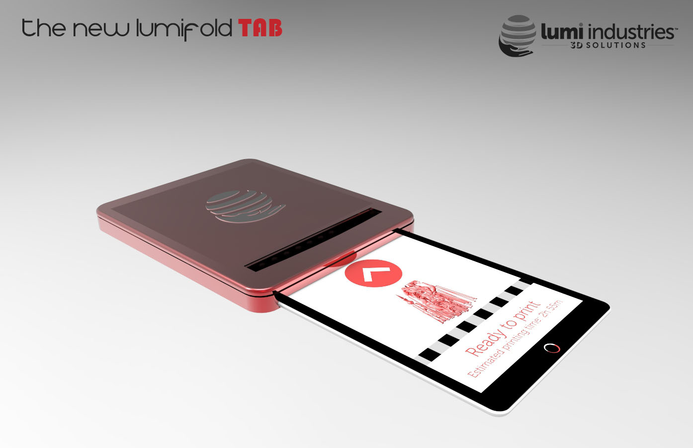the New LumiFold tablet 3D printer