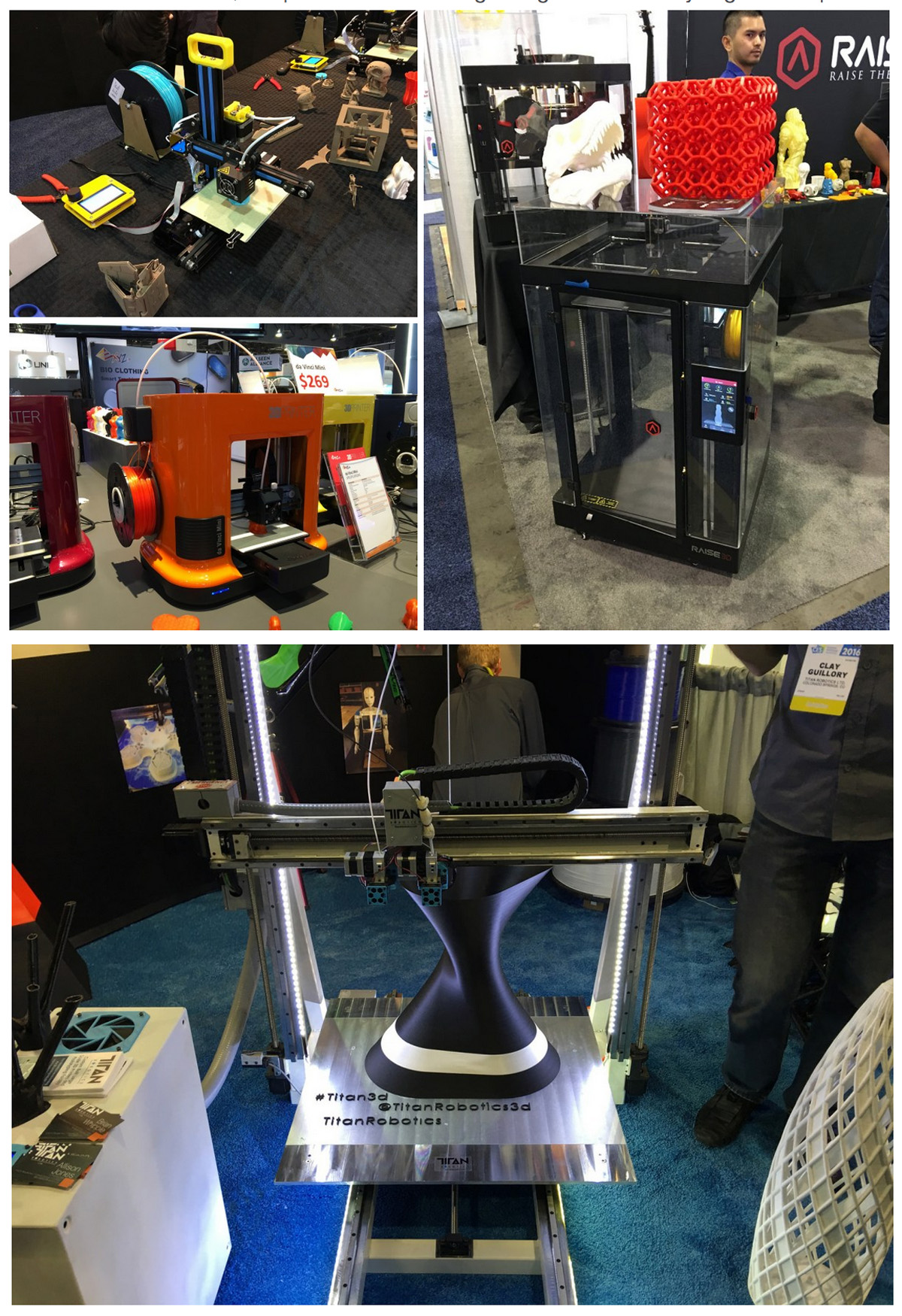 3D printing at CES from john biehler 3