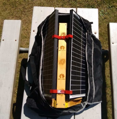 Take your solar-powered RepRap anywhere the sun shines!