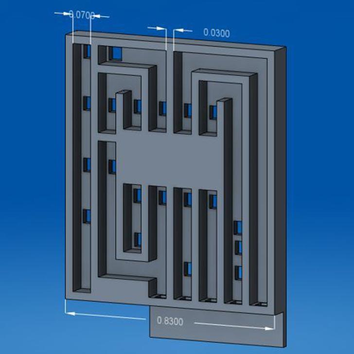 Circuit_CAD 3D printed circuit board