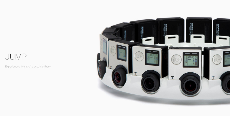 Google's 360 degree GoPro rig, Jump.