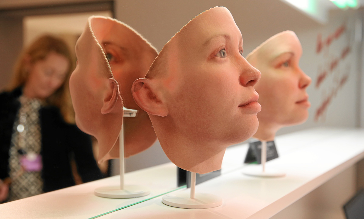 Heather Dewey-Hagborg's 3D printed Chelsea Manning faces