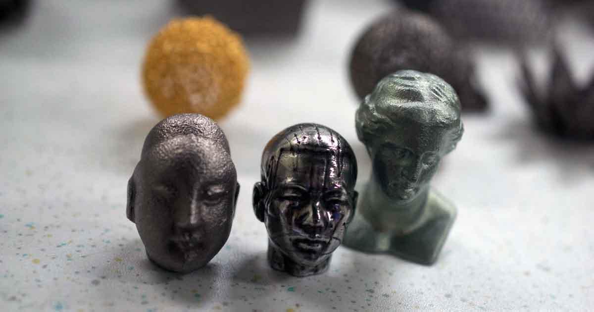 ITRI optical engine metal 3D printer 3d printed bust