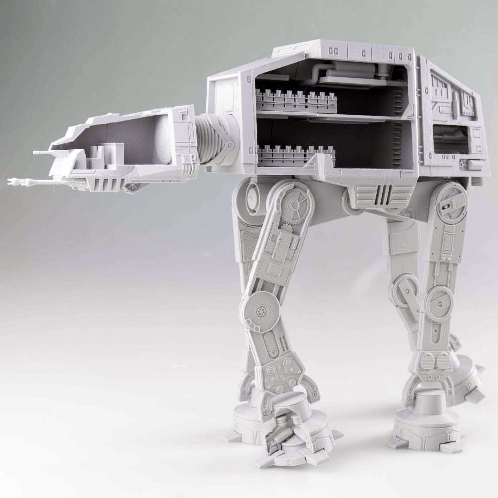 Articulated, 3D Printable AT-AT Details Inner Workings Of