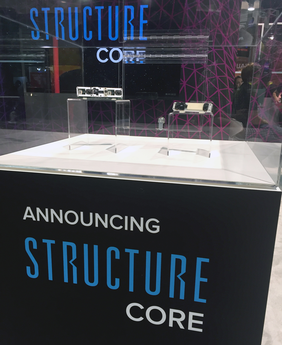Structure Core from occipital for 3D scanning 3D printing