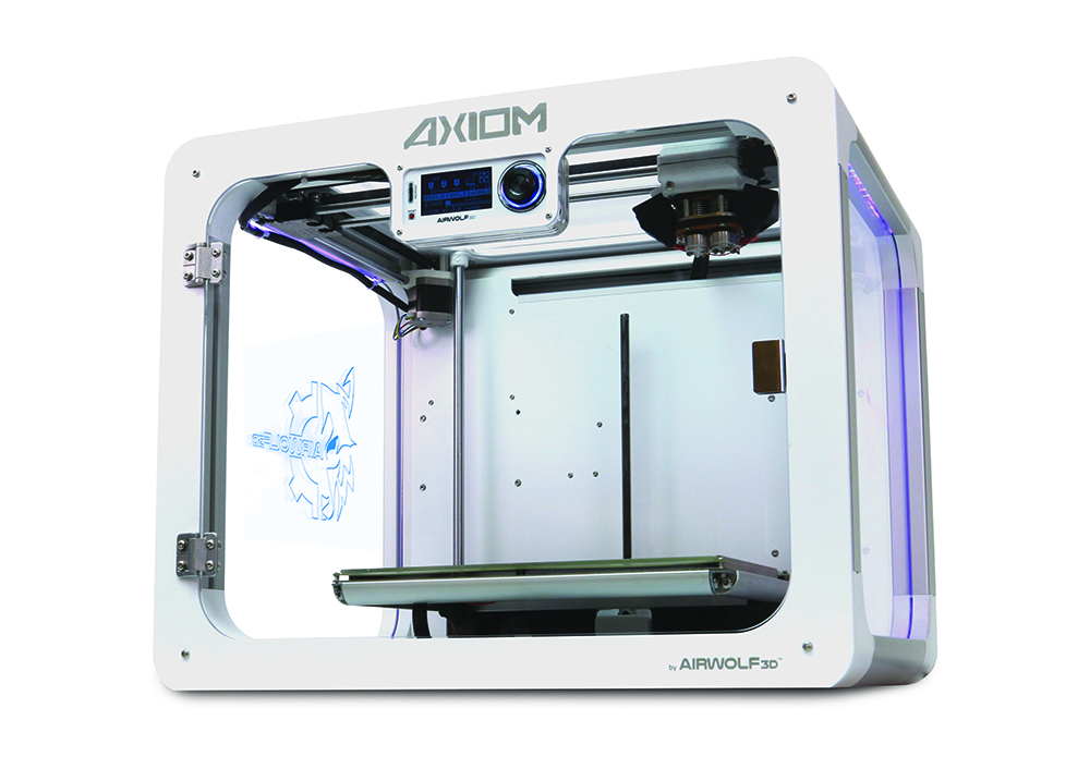 airwolf 3D dual extruder axiom 2 3D printer