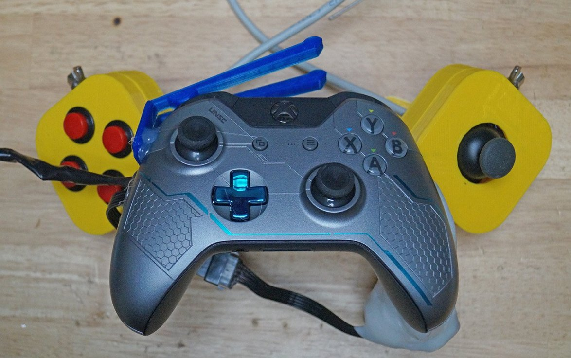 disabled gamer 3D printed Xbox One Foot controller Caleb Kraft