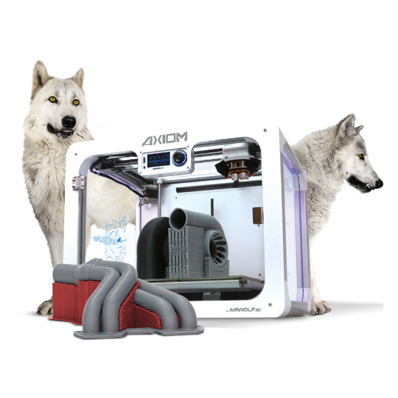 feature airwolf 3D dual extruder axiom 2 3D printer