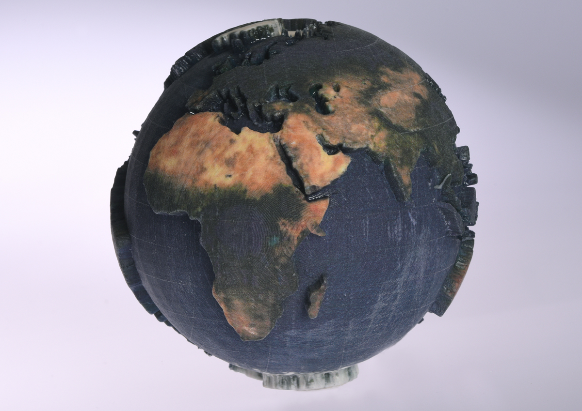 mCor ARKe consumer full-color 3D printer 3D printed globe