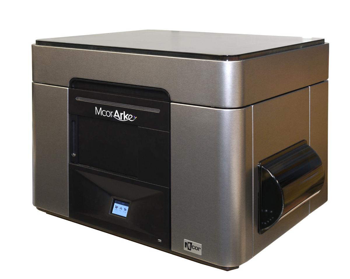 mCor ARKe consumer full-color 3D printer silver skin