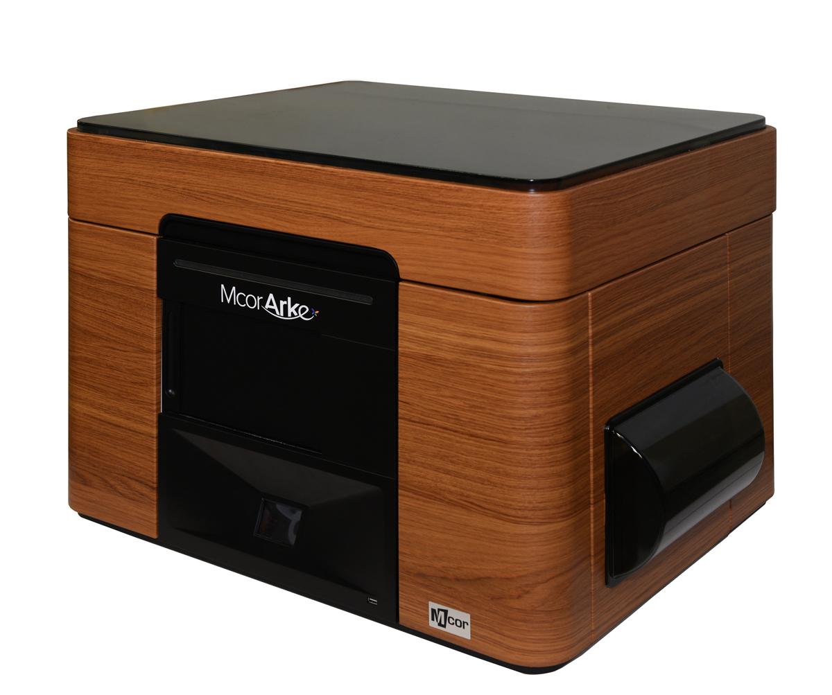 mCor ARKe consumer full-color 3D printer wood skin