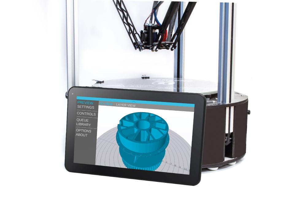 mattercontrol t10 3D printing platform from matterhackers