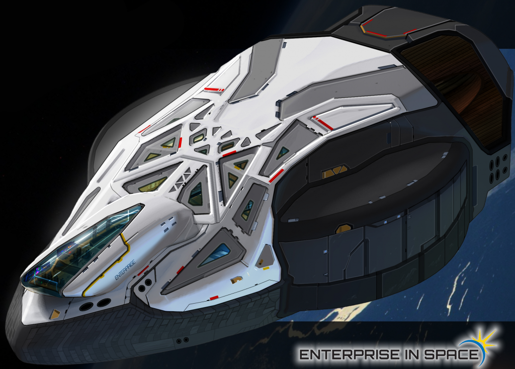 rendering of enterprise 3D printed ship