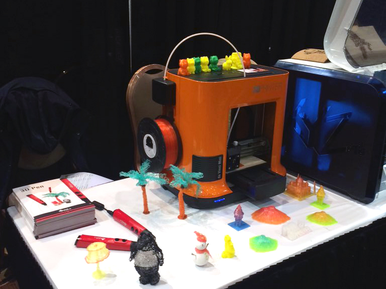 xyzprinting CES 2016 3D printing display