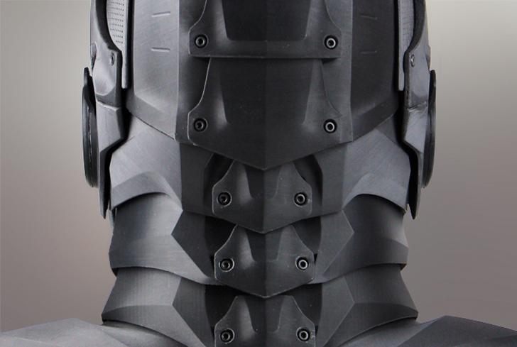 zortrax 3D printed super hero back