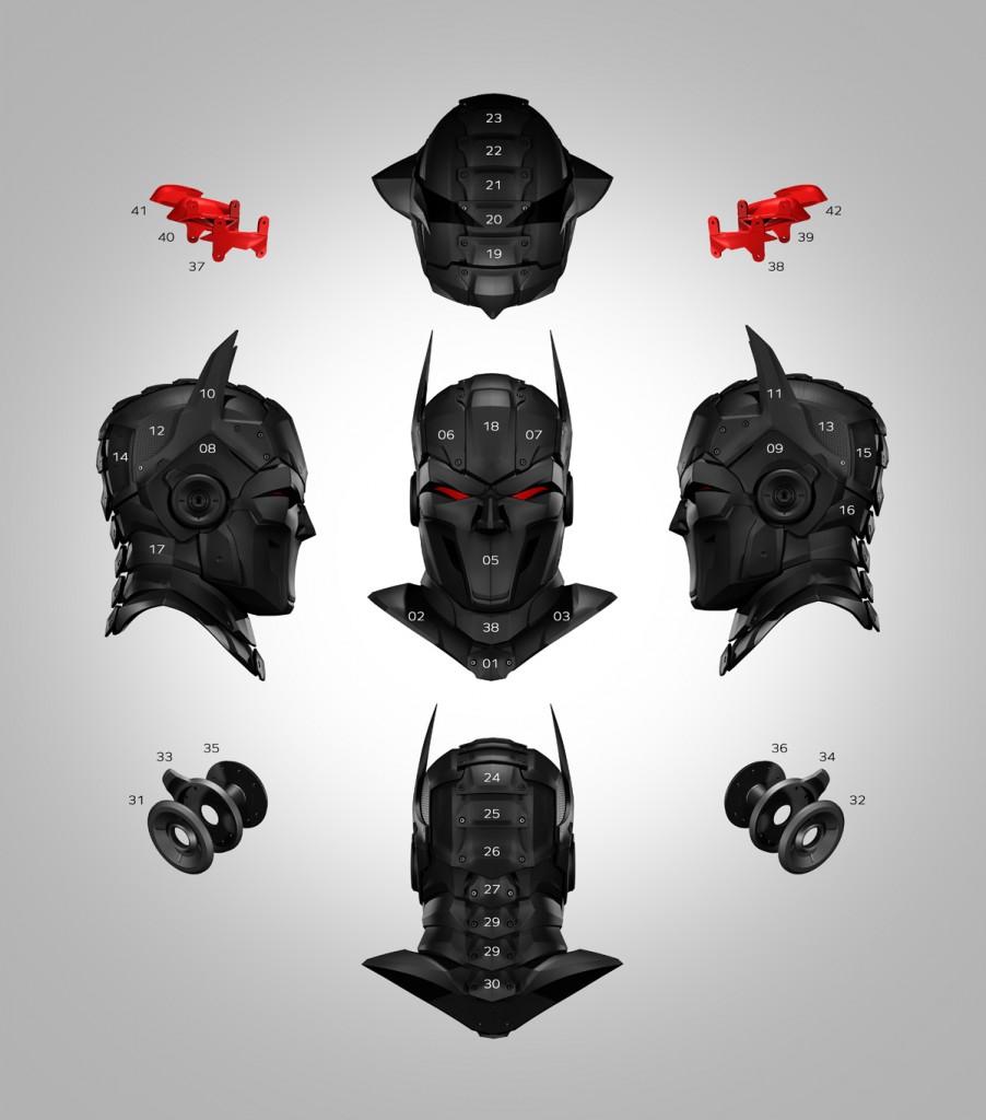 zortrax 3D printed super hero parts