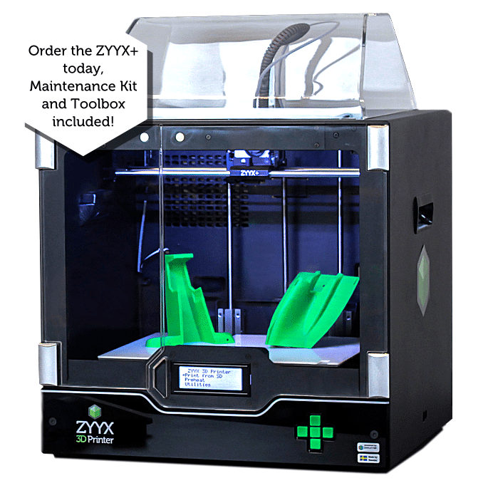 The New & Improved ZYYX+ 3D Printer