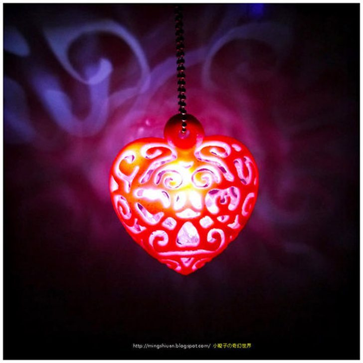 3D printed Heart Light by mingshiuan found on Pinshape