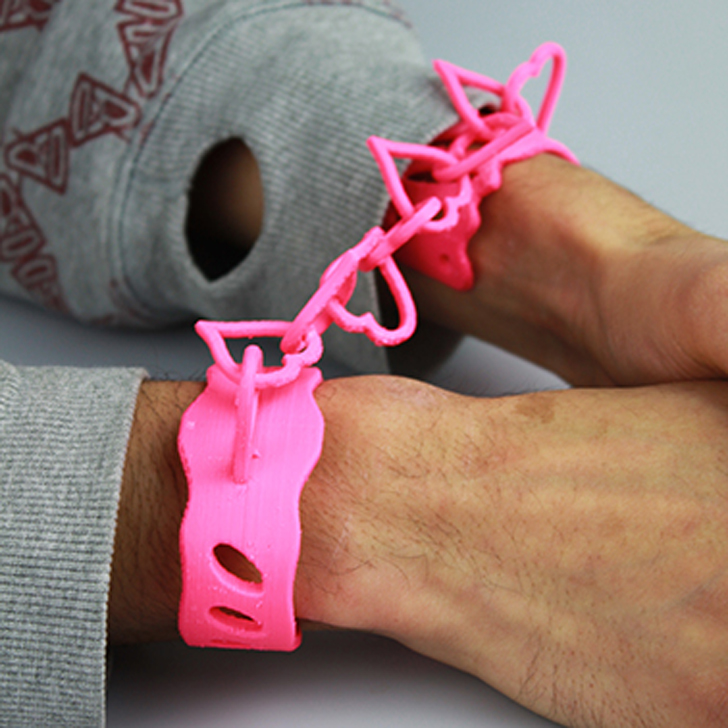 3D printed Love Cuffs by DesignerFred found on MyMiniFactory