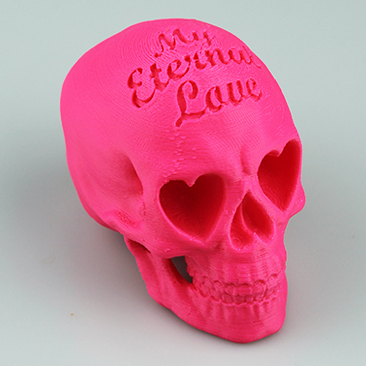 3D printed Love Skull by Guillermo Empinado found on MyMiniFactory