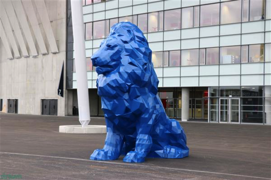 3D printed lion by drawn